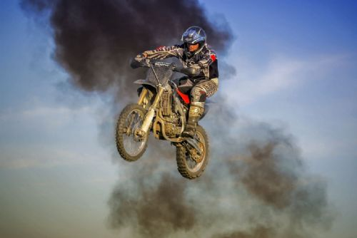 Motocross Extreme Sports  Canvas Framed Wall Art - 51